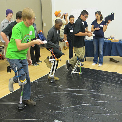 gk 12 competition gives high school students a leg to stand on