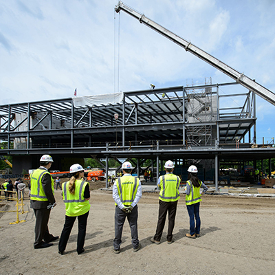 innovation partnership building marks construction milestone
