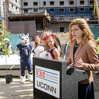topping out uconns newest residence hall