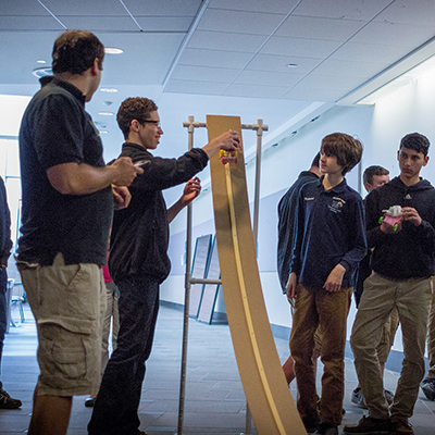 engineering design competition offers messy fun for high schoolers