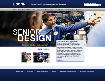 New Senior Design Website for Engineering - School of Engineering News