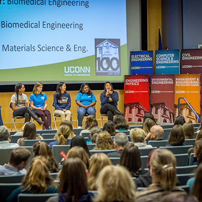 uconn engineering reaches out to high school students with second annual women in engineering day